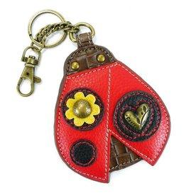 Chala Bags Key Fob, Coin Purse-LADYBUG