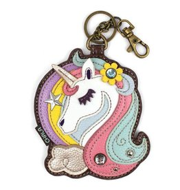 Chala Bags Key Fob, Coin Purse-UNICORN