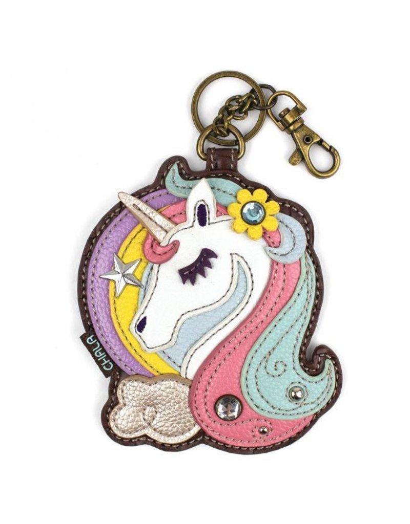 Chala Bags Key Fob, Coin Purse-UNICORN