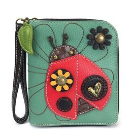 Chala Bags Wallet-Zip Around-LADYBUG