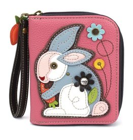 Chala Bags Wallet-Zip Around-RABBIT