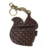 Chala Bags Key Fob, Coin Purse-SQUIRREL