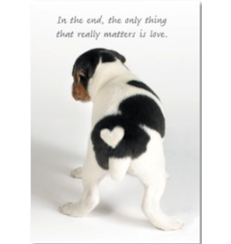 Leanin Tree MAGNET: The Only Thing That Matters Is Love (Dog Heart)