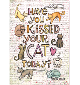 Leanin Tree MAGNET: Have You Kissed Your Cat Today