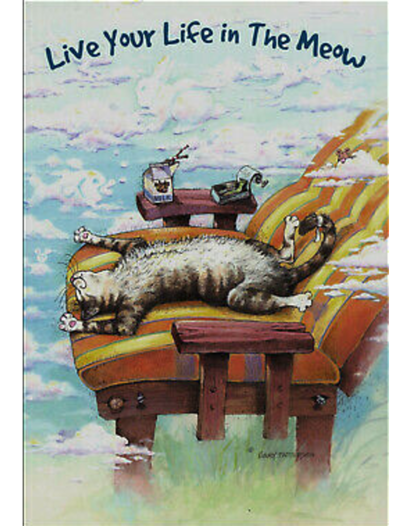 Leanin Tree MAGNET: Live Your Life In The Meow, Lazy Cat