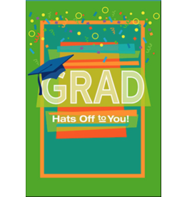 Leanin Tree Graduation Card: Grad Hats Off to You