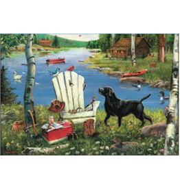 Leanin Tree Fathers Day Card: Adirondack Dog
