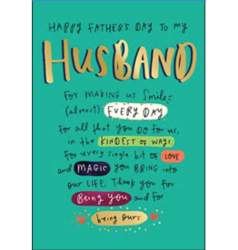 Leanin Tree Fathers Day Card: Happy Father's Day Husband