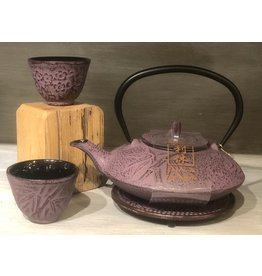 Tea Set-Cast Iron 'PINK' (4pc)