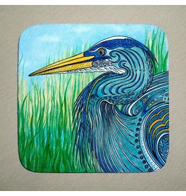 Stephanie Kiker COASTERS-Great Blue Heron (SET 4)