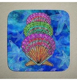 Stephanie Kiker COASTERS-Scallop Shells (SET 4)