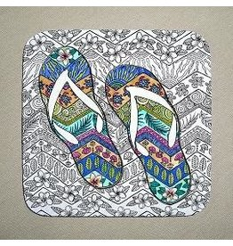 Stephanie Kiker COASTERS-Tropical Flip Flops (SET 4)