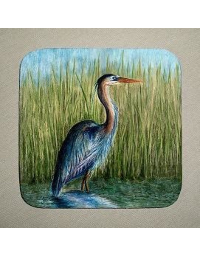 Stephanie Kiker COASTERS-Blue Heron (SET 4)