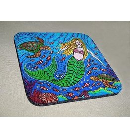 Stephanie Kiker COASTERS-Mermaid & Turtles (SET 4)