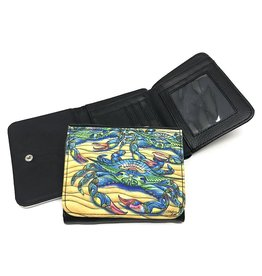 Stephanie Kiker WALLET-Blue Crabs