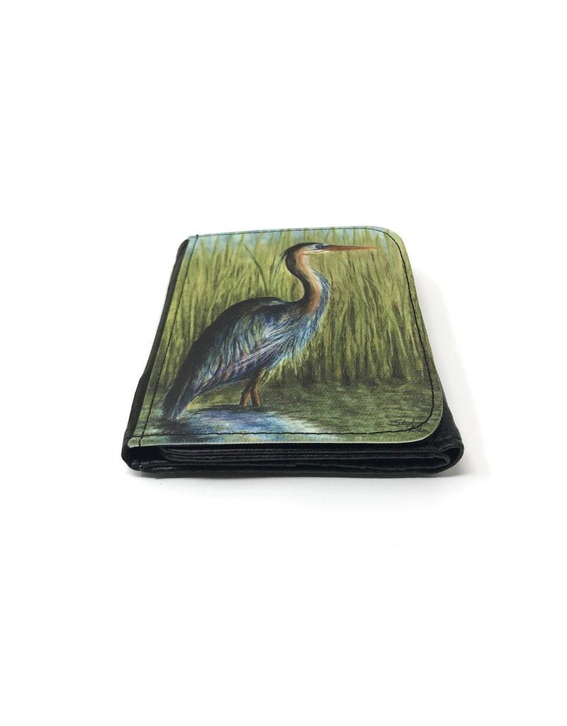 Stephanie Kiker WALLET-Blue Heron