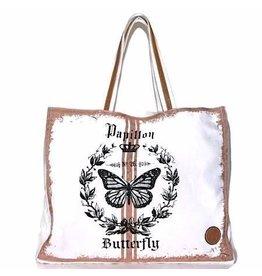 Le Papillon Tote-Vintage Pink Papillon