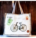 Le Papillon Tote-Vintage Carte Postale Paris Bike