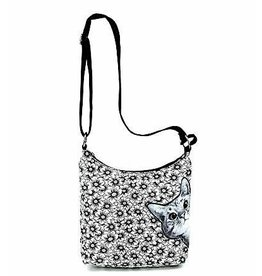 Comeco Crossbody Messenger-Peeking Cat