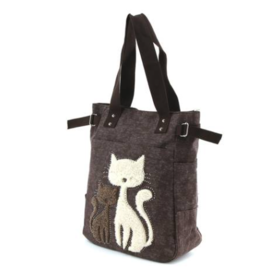 Comeco Tote-Lovely Cats Canvas Bag