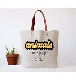 Fun Club Tote-ANIMALS, Cause people suck