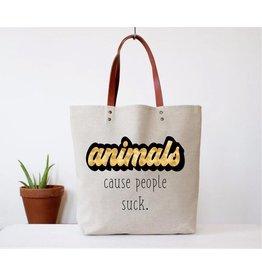 Fun Club Tote-ANIMALS, Cause people suck