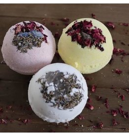Lotus Lava Bathbomb-Organic w/Raw Crystal 3.5""