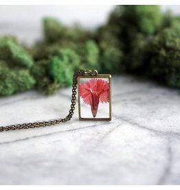 The Pretty Pickle Necklace-Birth Month Flower, JANUARY, Carnation