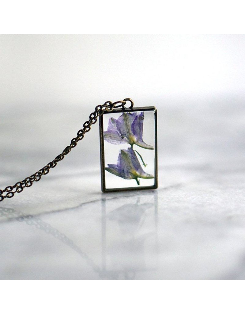 The Pretty Pickle Necklace-Birth Month Flower, FEBRUARY, Iris
