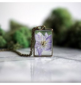 The Pretty Pickle Necklace-Birth Month Flower, JULY, Larkspur
