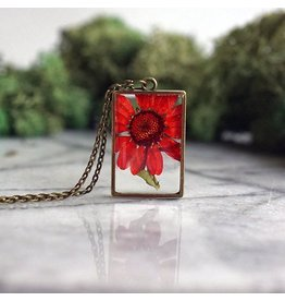 The Pretty Pickle Necklace-Birth Month Flower, NOVEMBER, Chrysanthemum