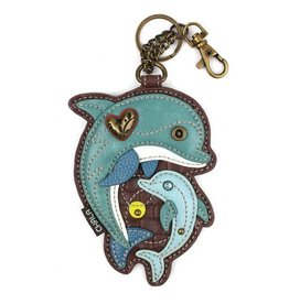Chala Bags Key Fob, Coin Purse-DOLPHIN