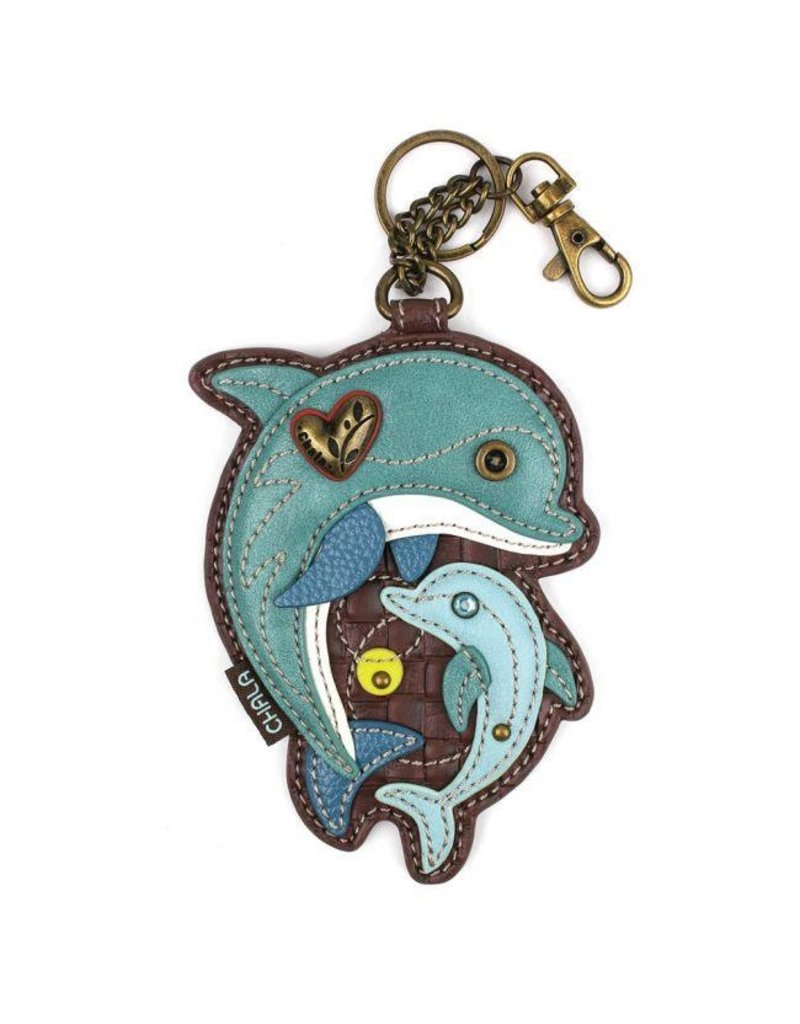 Chala Bags Key Fob, Coin Purse-DOLPHIN