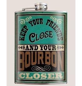 Trixie & Milo Flask-Keep Your Friends Close & Your Bourbon Closer