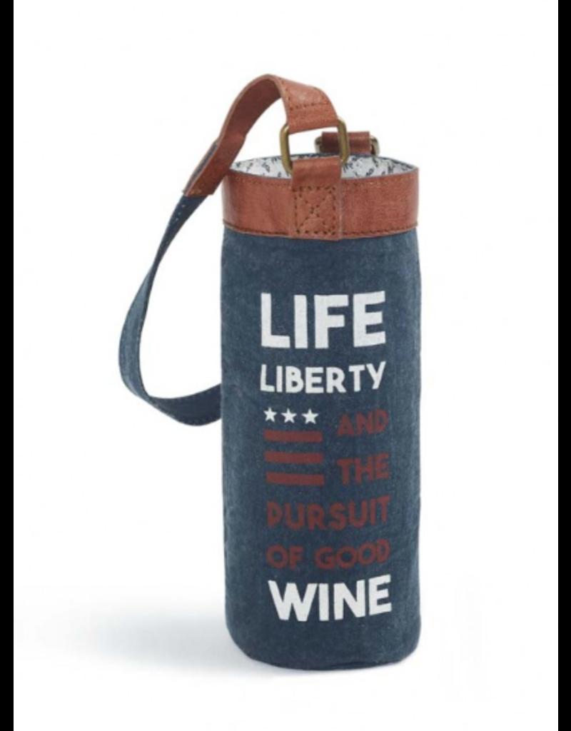 Mona B Wine Bag-'Life, Liberty, Good Wine'