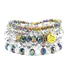 Savvy Blings Bracelet-(Stack of 5) Mermaid Tears Savvy Bling