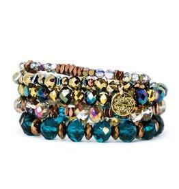 Savvy Blings Bracelet-(Stack of 5) Caribbean Savvy Bling