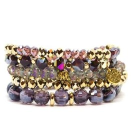 Savvy Blings Bracelet-(Stack of 5) Mythical Purple Savvy Bling