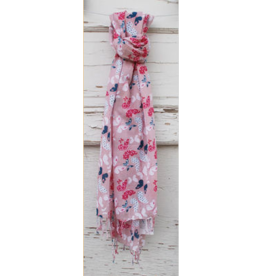 Art Studio Company Scarf Cotton-BUTTERFLY (Light Pink)