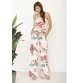 Jumpsuit-Tank Style, Floral, Tie Waist