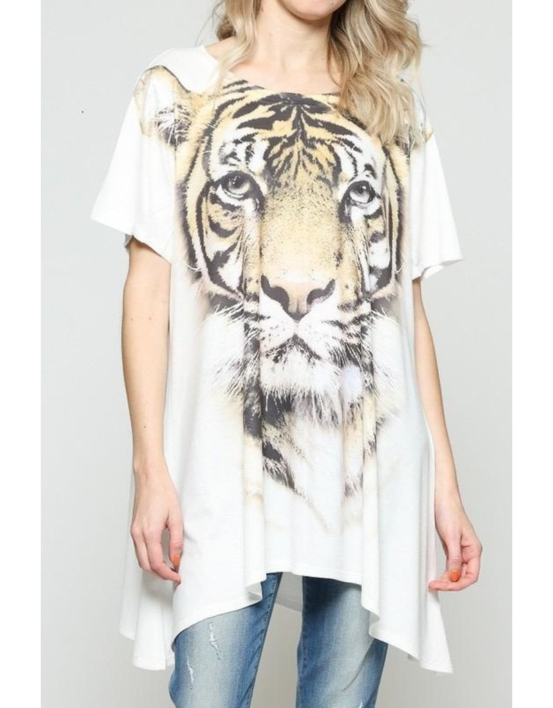 Top-Tiger Face, Relaxed Tunic