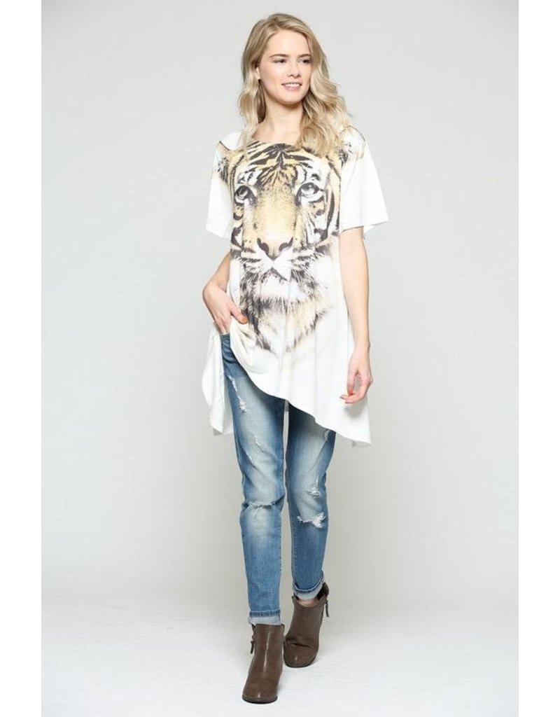 Nylon Apparel Top-Tiger Face, Relaxed Tunic