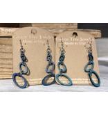 Green Tree Earrings Wood-Orbital Dangles