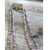 Anzell Fashion Necklace & Earrings SET-Layered Western Stone Beads  PINK