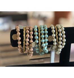 Anzell Fashion Bracelet-Stretch Stack (4) Smooth Stone