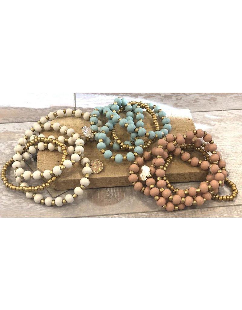 Anzell Fashion Bracelet-Stretch Stack (4) Smooth Stone