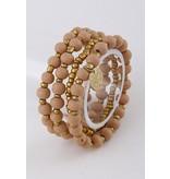 Bracelet-Stretch Stack (4) Smooth Stone