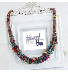 Necklace Choker-Vintage Boho Rainbow Gemstones