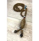 Necklace-Boho Bodhi Tree Wood Beads & Seeds
