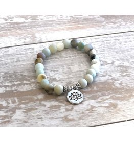 Bracelet-Lotus Amazonite Yoga